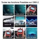 OBD2 / EOBD/ CAN Outils de diagnostic lire et effacer les codes d'erreur du moteur détecter facilement dysfonctionnement du moteur et batterie pour toutes les voitures