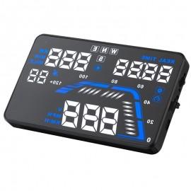 Affichage tete haute HUD par GPS universel avec alarme survitesse